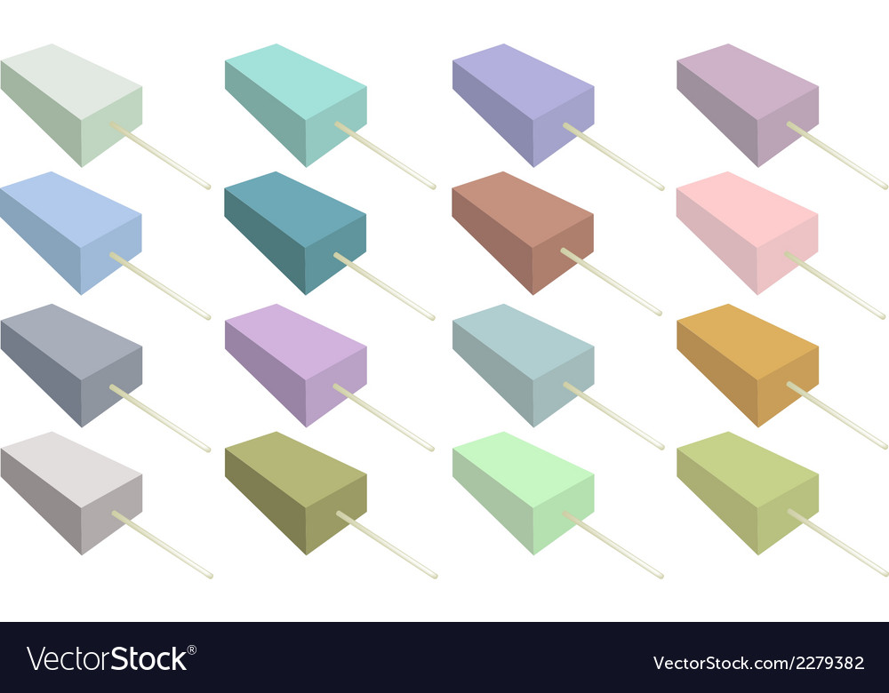 Set of various flavored popsicle ice creams vector | Price: 1 Credit (USD $1)
