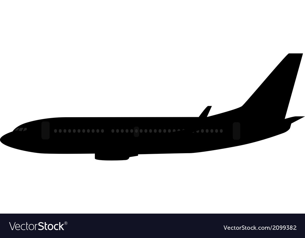Single medium size aircraft silhouette vector | Price: 1 Credit (USD $1)