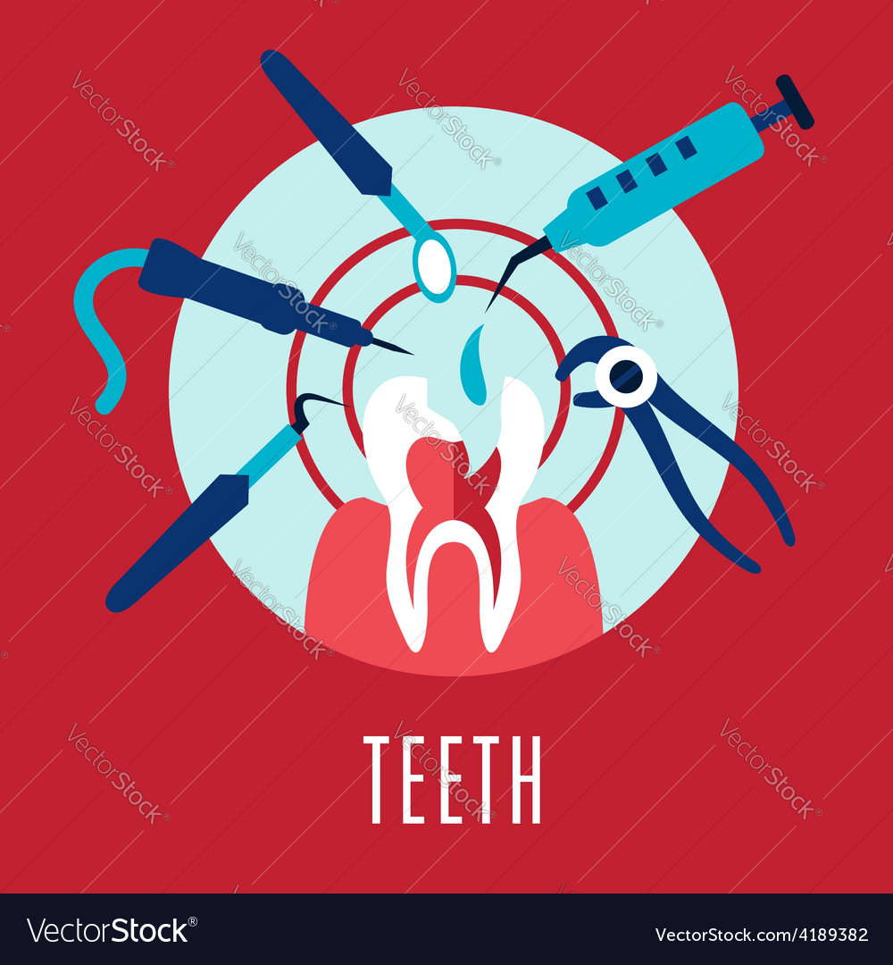 Teeth and dentistry concept vector | Price: 1 Credit (USD $1)