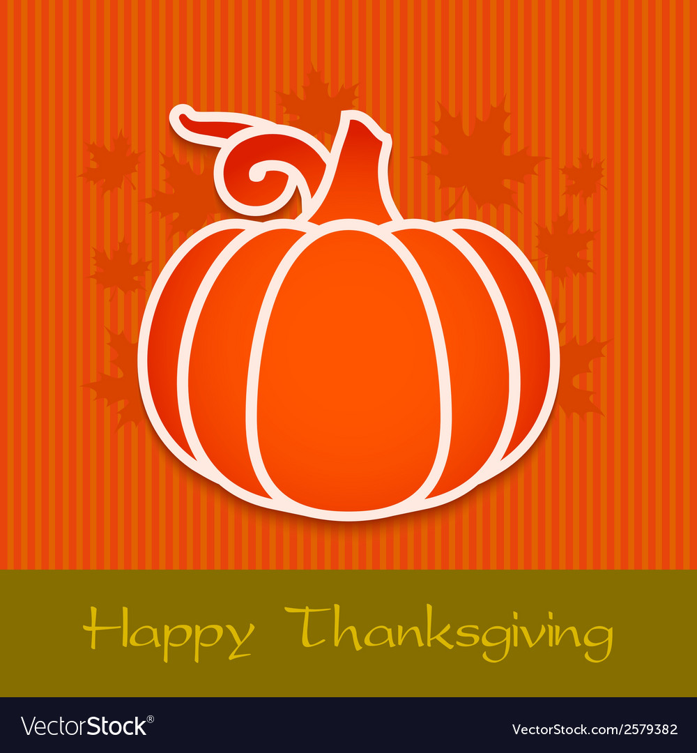 Thanksgiving day greeting card eps10 vector | Price: 1 Credit (USD $1)