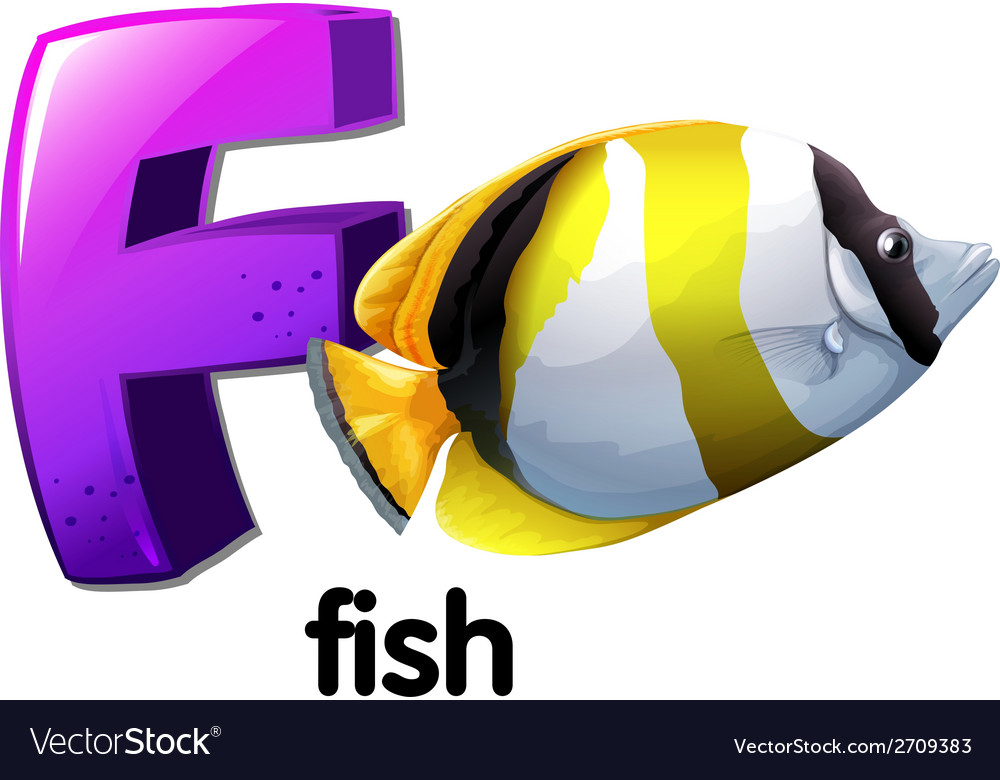 A letter f for fish vector | Price: 1 Credit (USD $1)