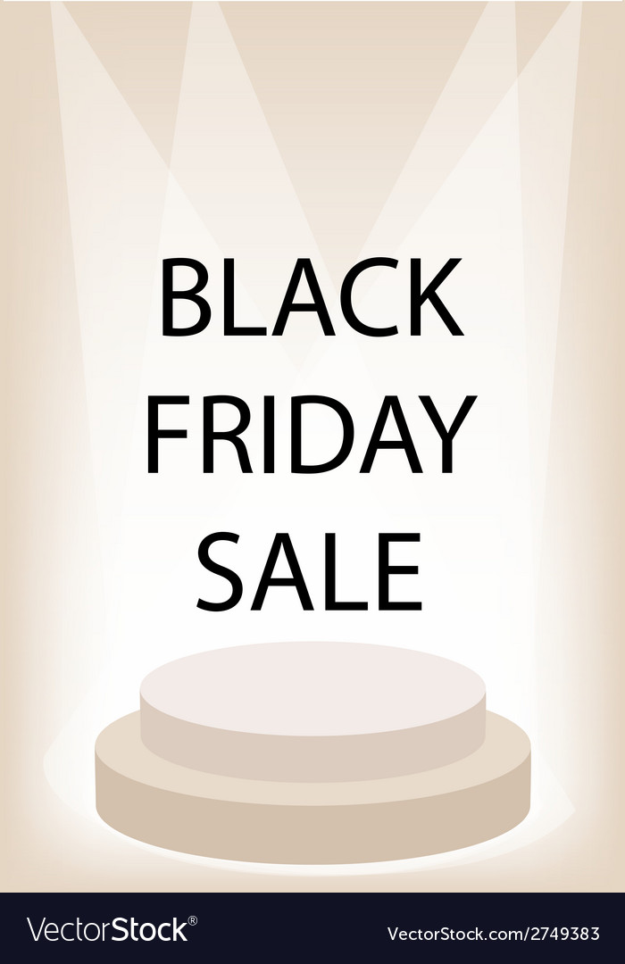 Black friday promotion on brown retro stage vector | Price: 1 Credit (USD $1)