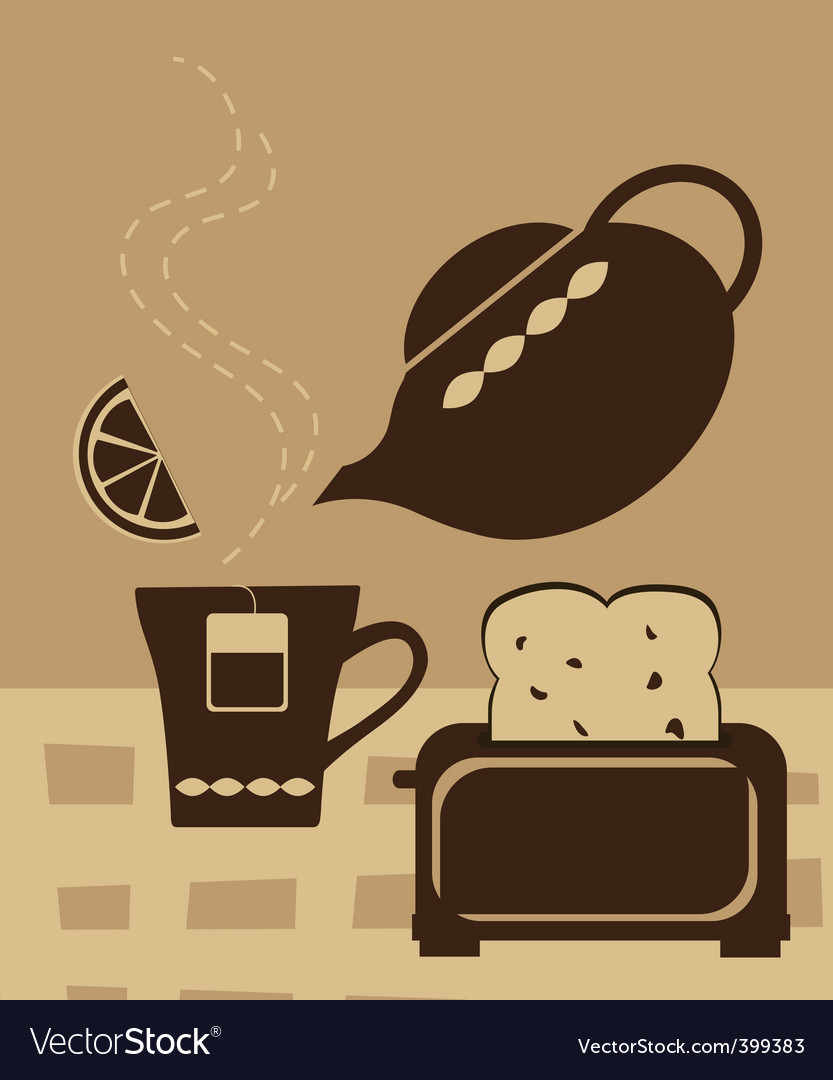Breakfast tea vector | Price: 1 Credit (USD $1)