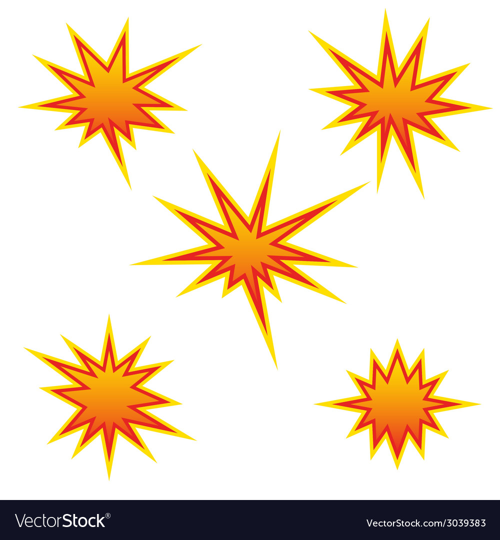 Bursting star vector | Price: 1 Credit (USD $1)