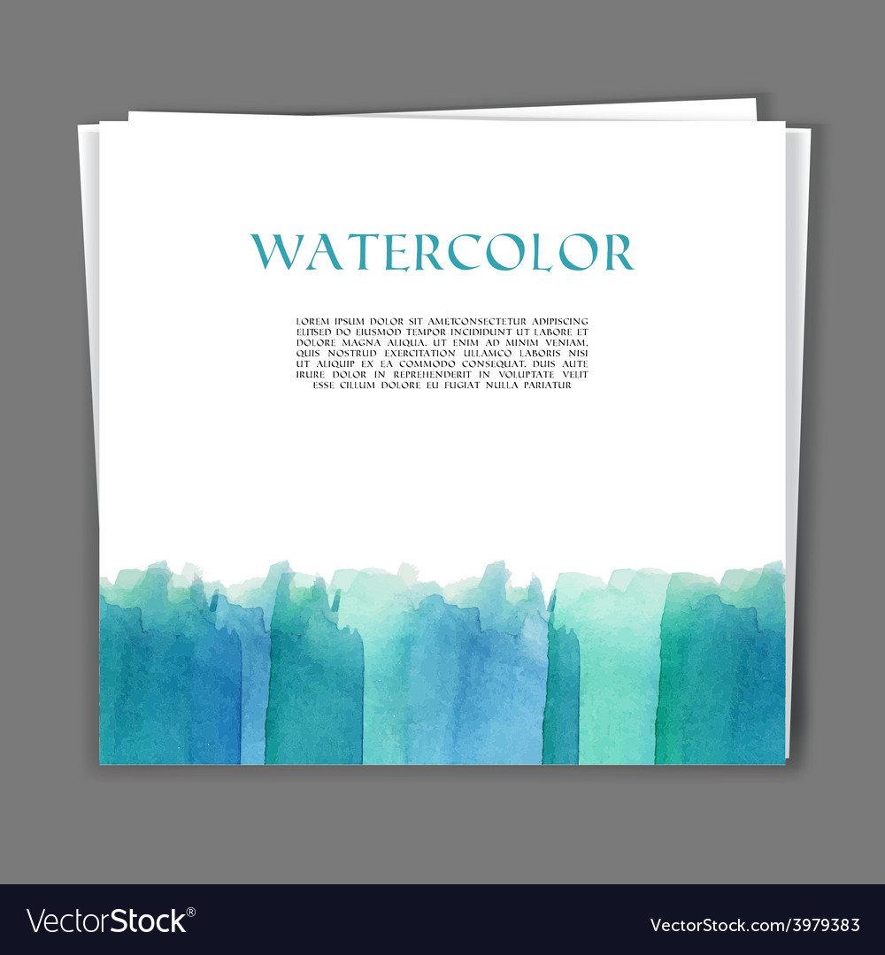 Card with hand painted watercolor texture vector | Price: 1 Credit (USD $1)