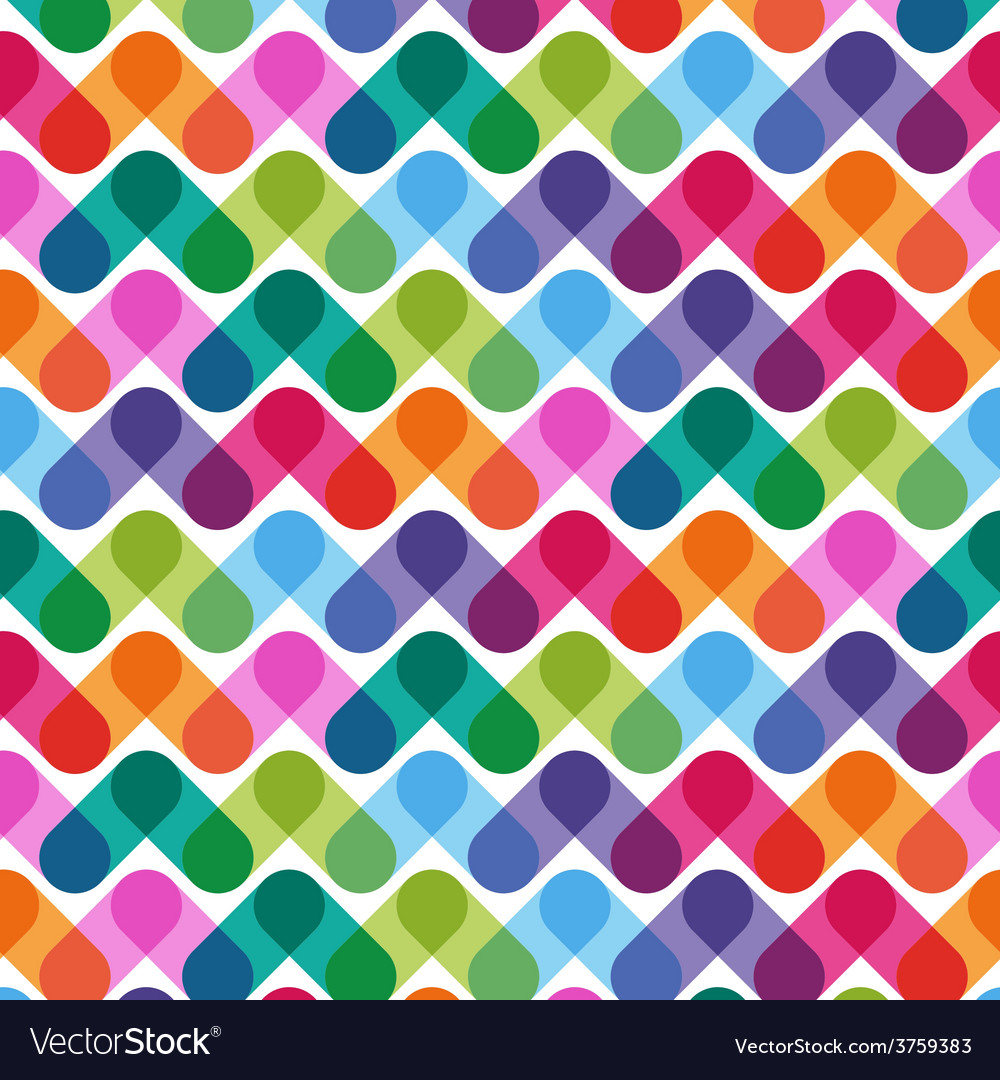 Colorful geometrical abstract seamless pattern vector | Price: 1 Credit (USD $1)