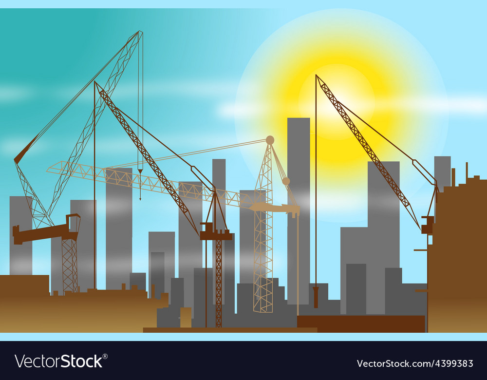 Construction site background vector | Price: 3 Credit (USD $3)