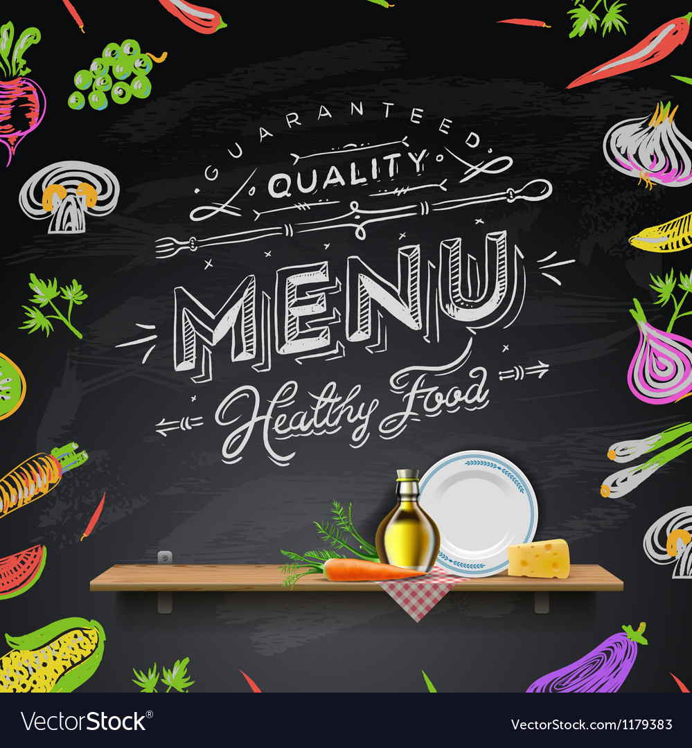 Design elements menu chalkboard vector | Price: 3 Credit (USD $3)