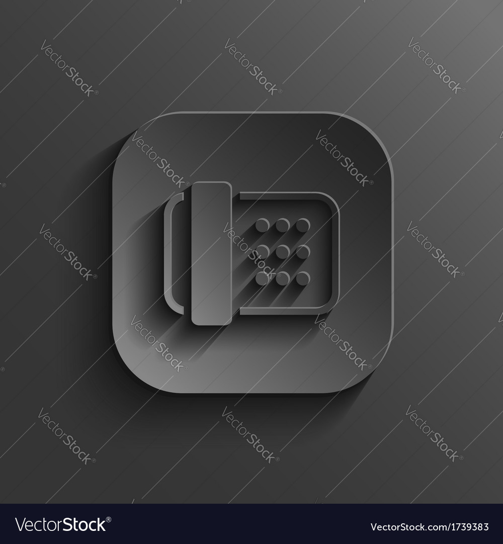 Fax machine icon - black app button vector | Price: 1 Credit (USD $1)