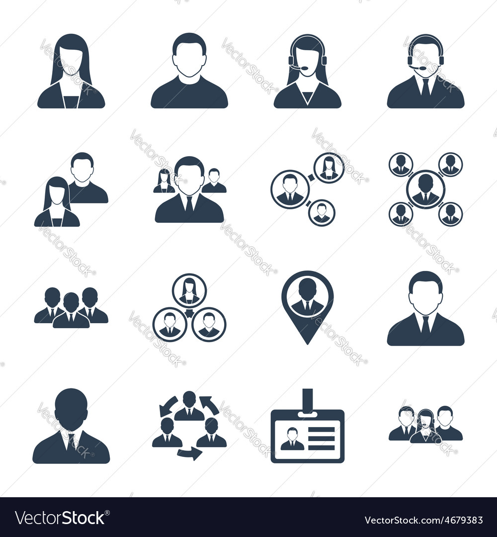 Human resource and management icons set vector | Price: 1 Credit (USD $1)