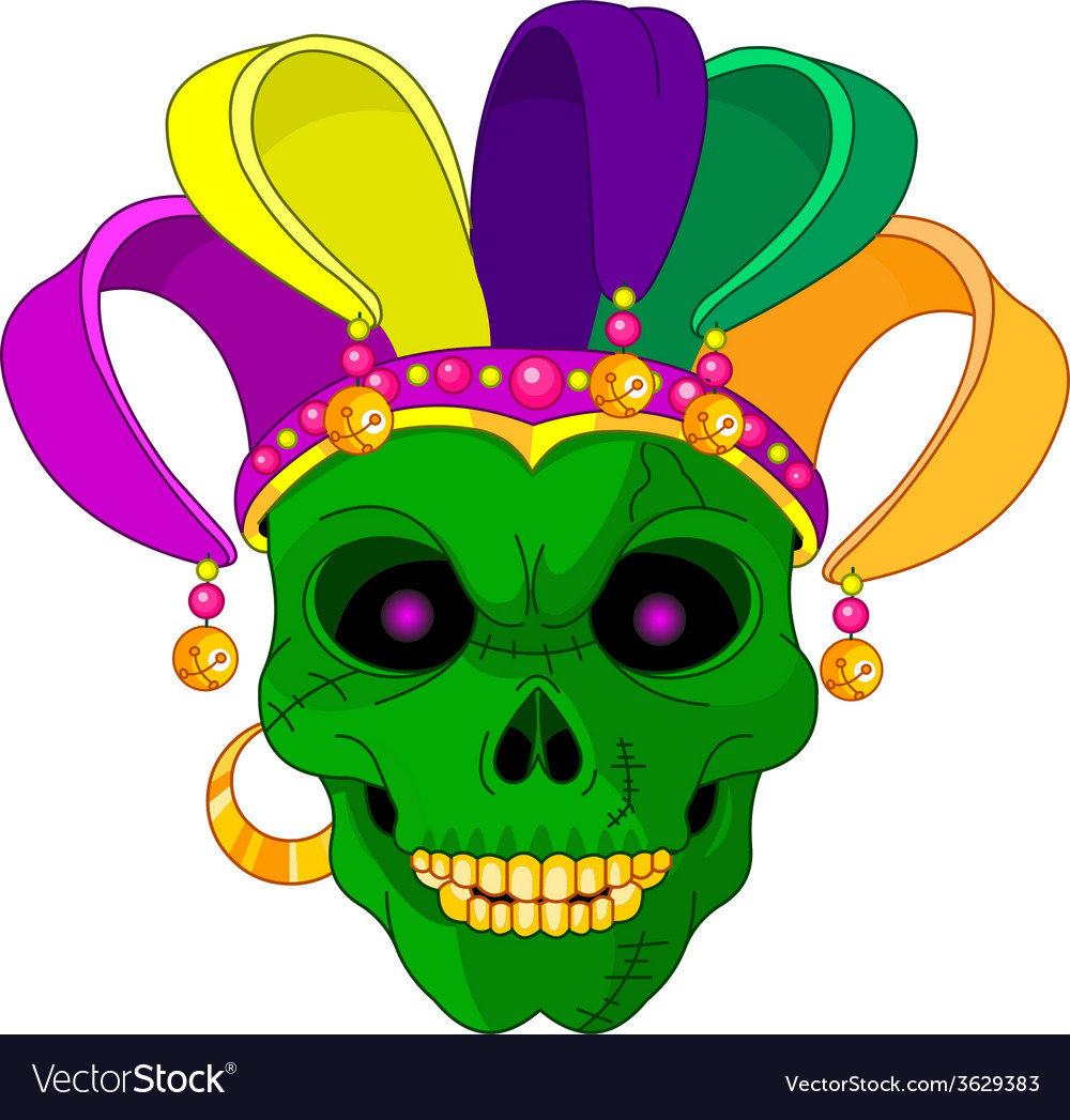Mardi gras skull vector | Price: 1 Credit (USD $1)