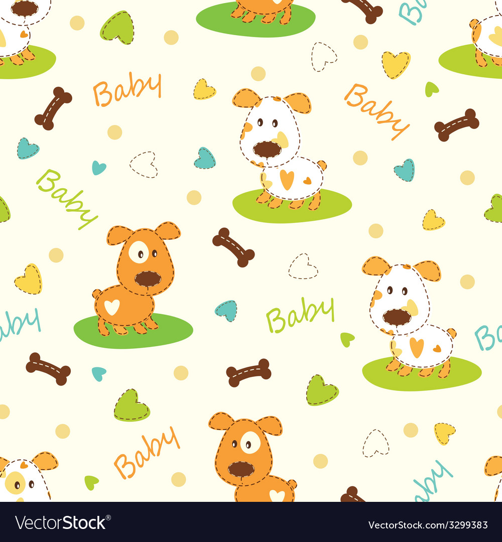Seamless pattern with dog vector | Price: 1 Credit (USD $1)