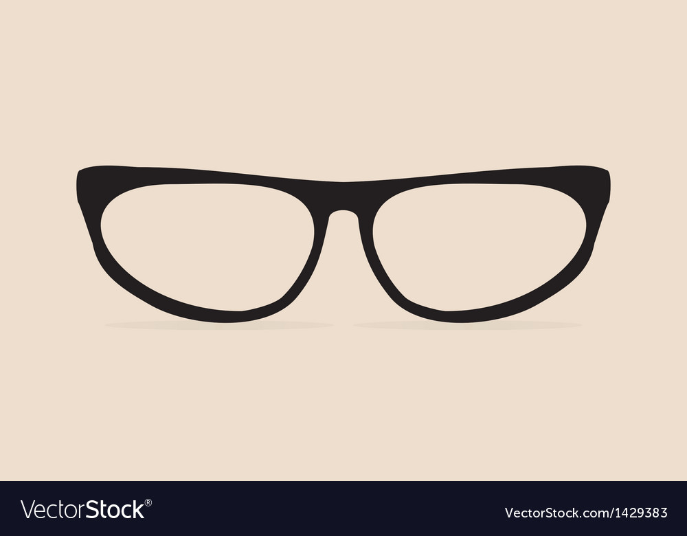 Secretary black flat eye glasses vector | Price: 1 Credit (USD $1)