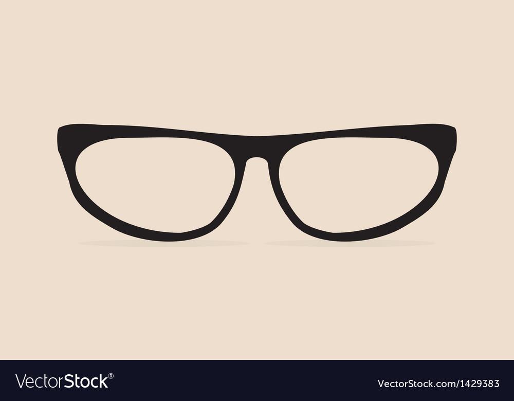 Secretary black flat eye glasses vector | Price: 1 Credit (USD $1)