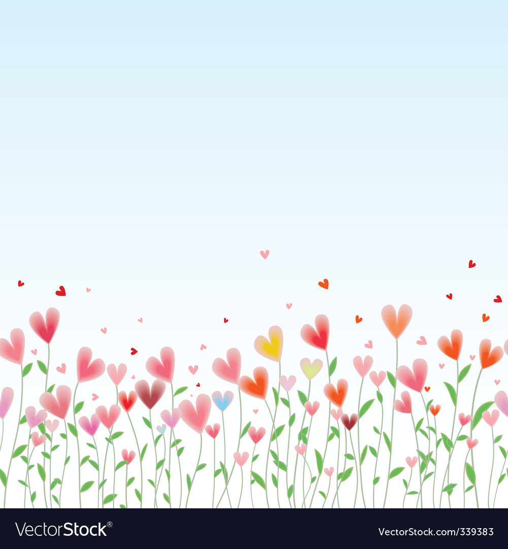 Valentines day horizontal seamless background vector | Price: 1 Credit (USD $1)