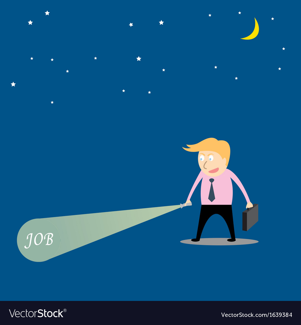 Businessman are searching job vector | Price: 1 Credit (USD $1)