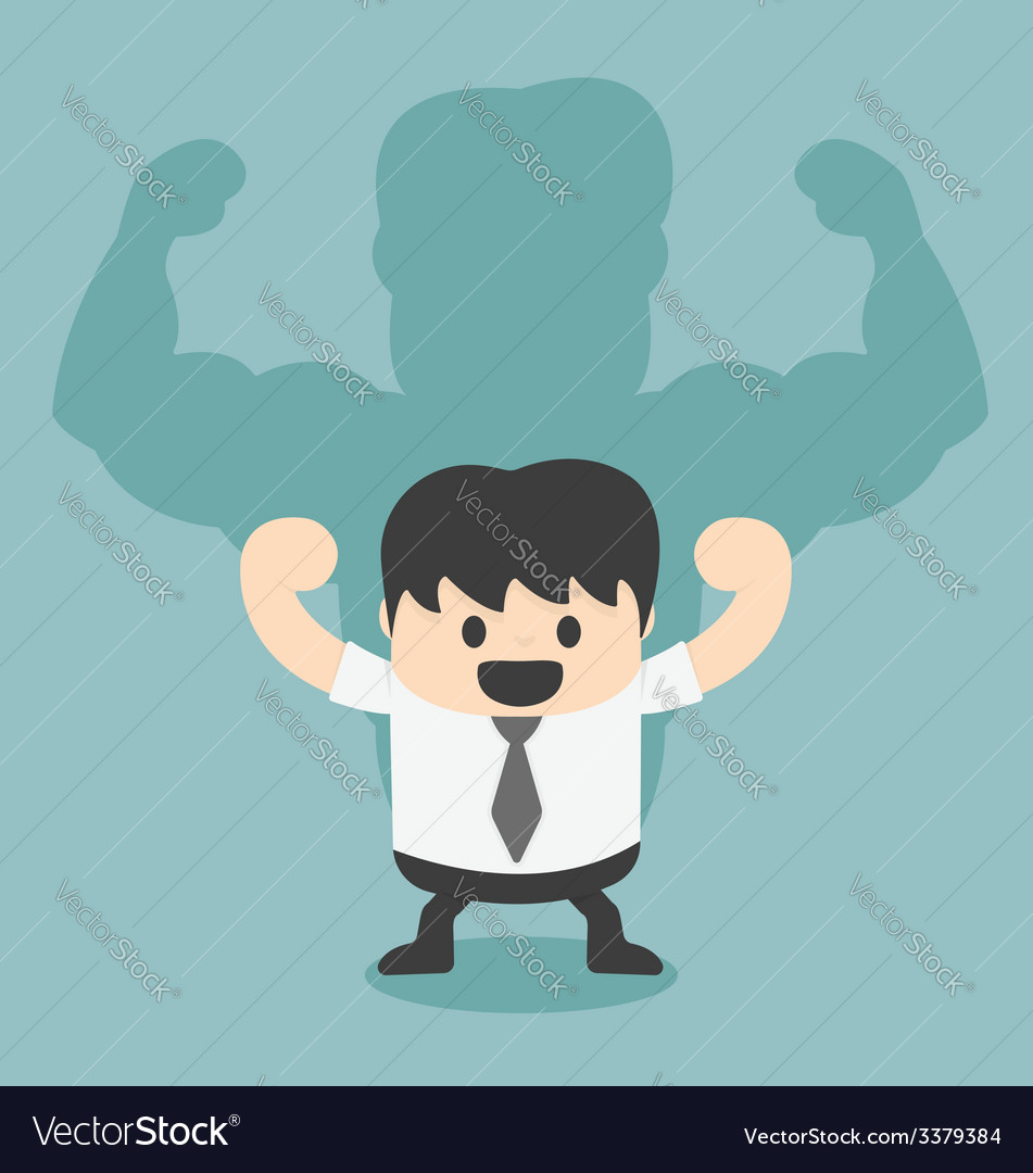 Businessman shadow is strong vector | Price: 1 Credit (USD $1)