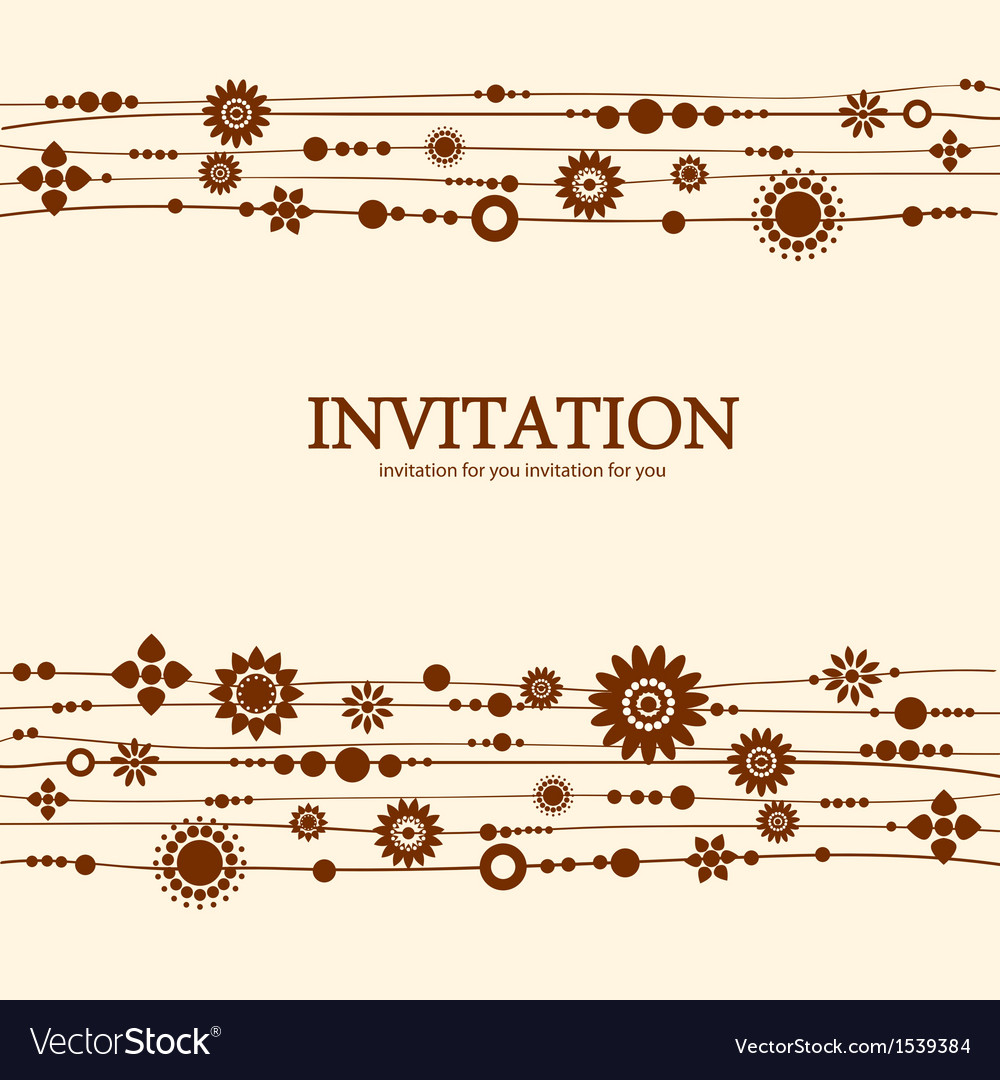 Decorative floral invitation vector | Price: 1 Credit (USD $1)
