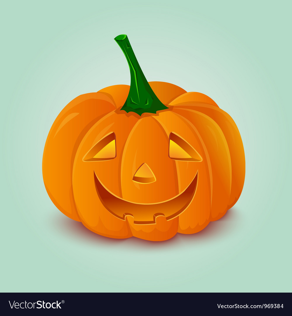 Halloween pumpkin lantern vector | Price: 1 Credit (USD $1)