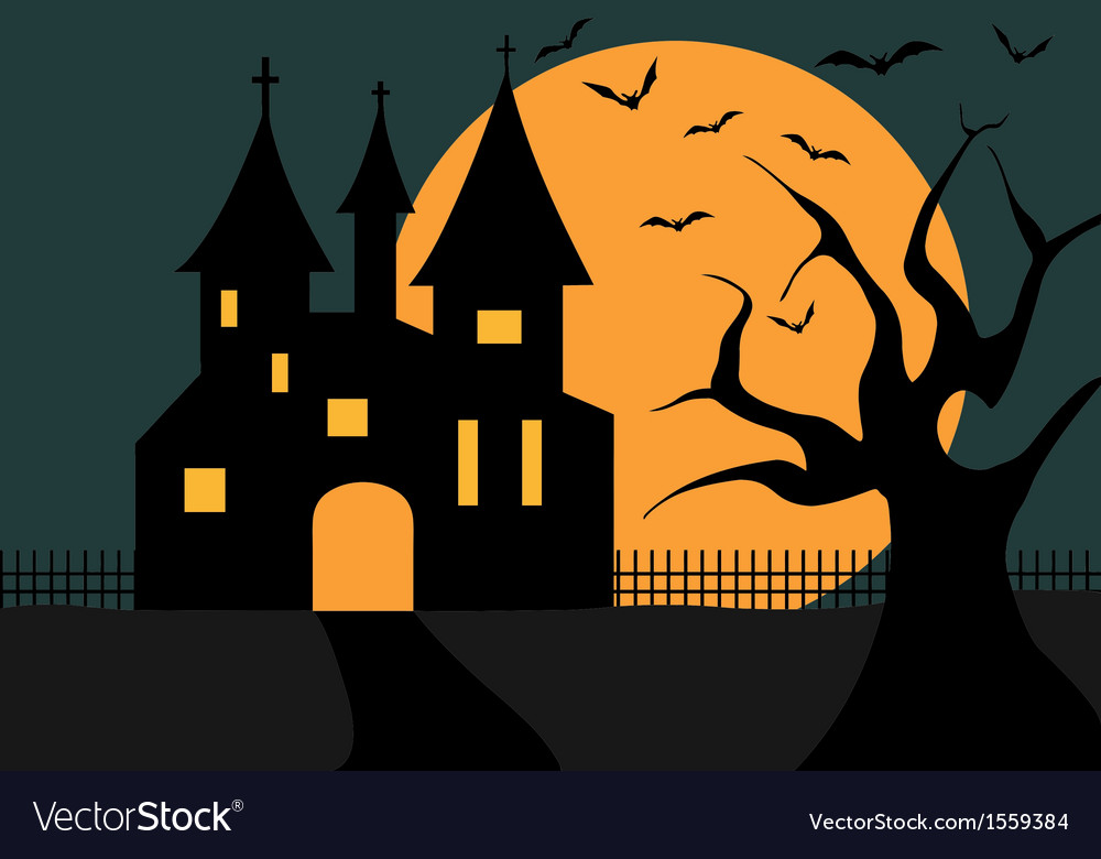 Of a halloween castle vector | Price: 1 Credit (USD $1)