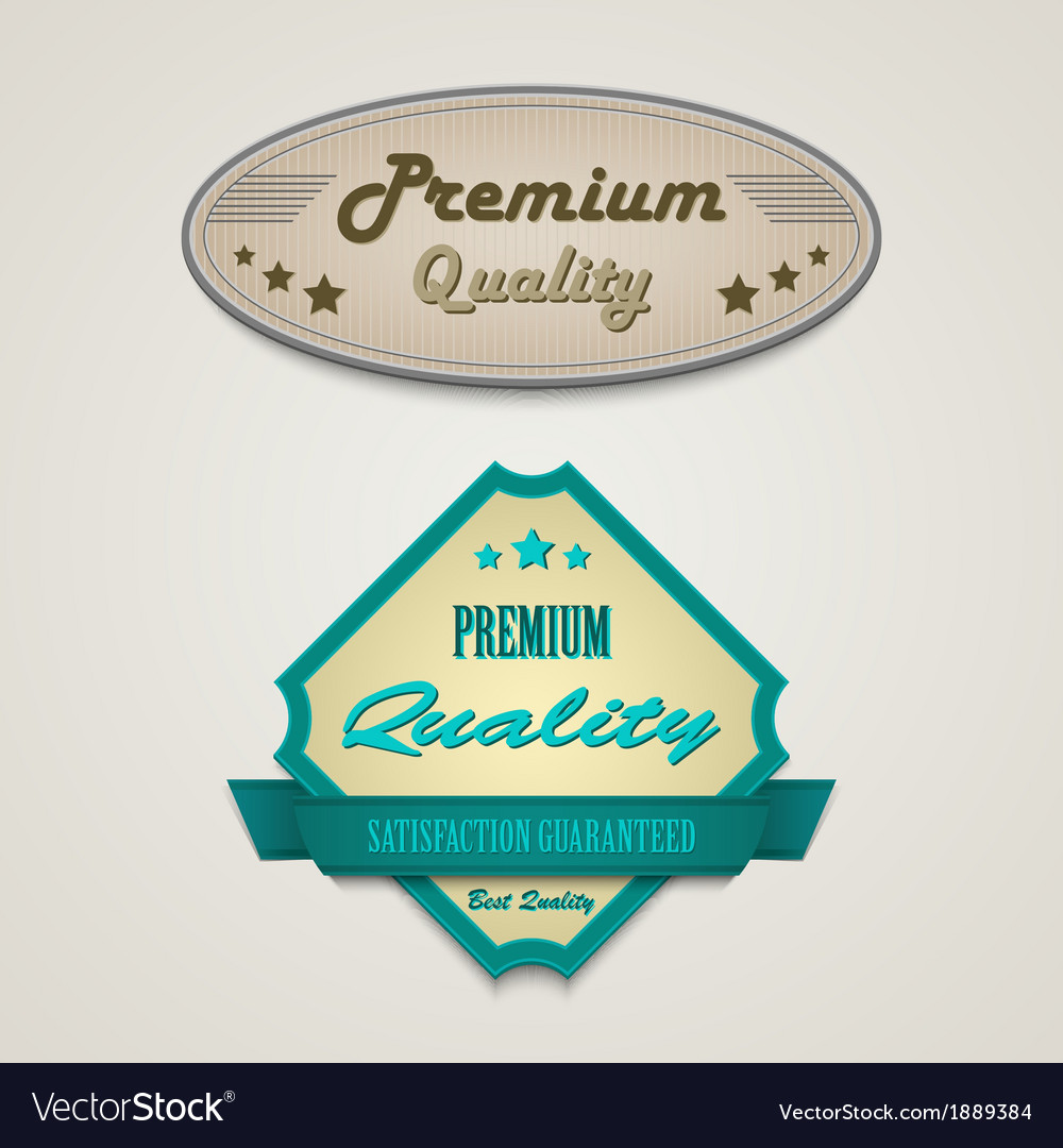 Retro vintage premium web design elements vector | Price: 1 Credit (USD $1)