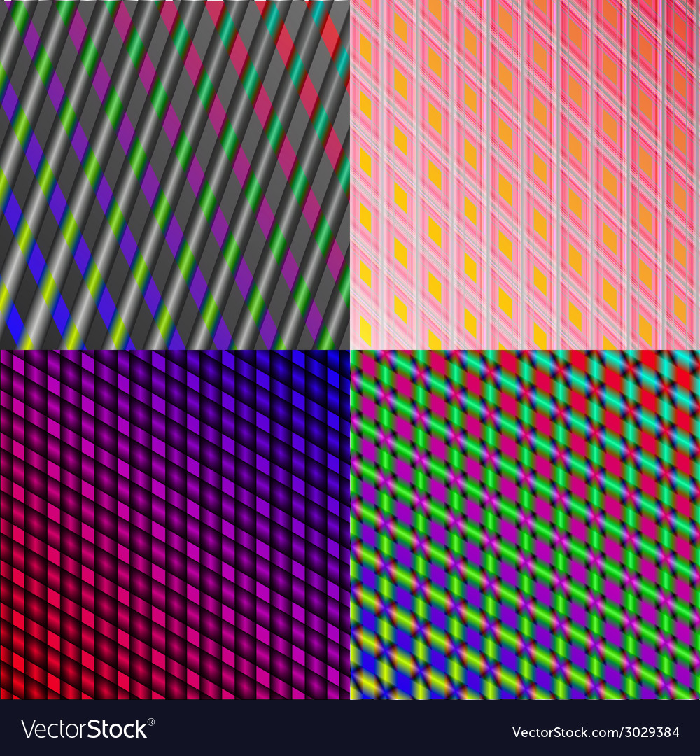 Set of stylized abstract background glowing lines vector | Price: 1 Credit (USD $1)