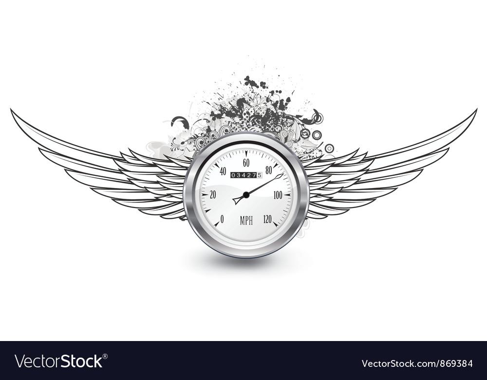 Speedometer emblem vector | Price: 1 Credit (USD $1)