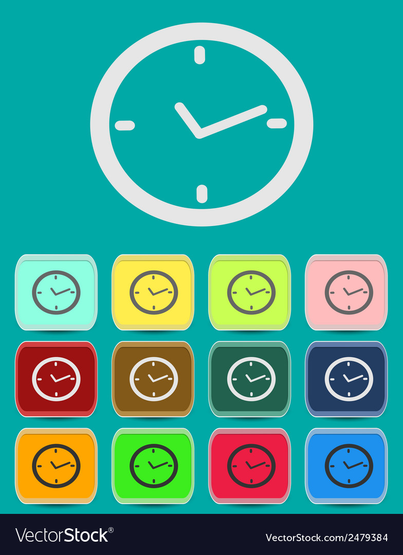 Watch clock icon in flat style vector | Price: 1 Credit (USD $1)