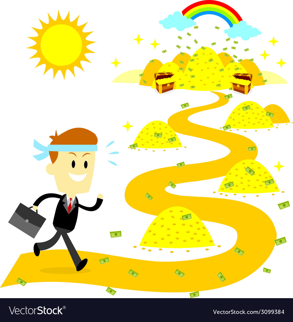 Working hard to the money land vector | Price: 1 Credit (USD $1)