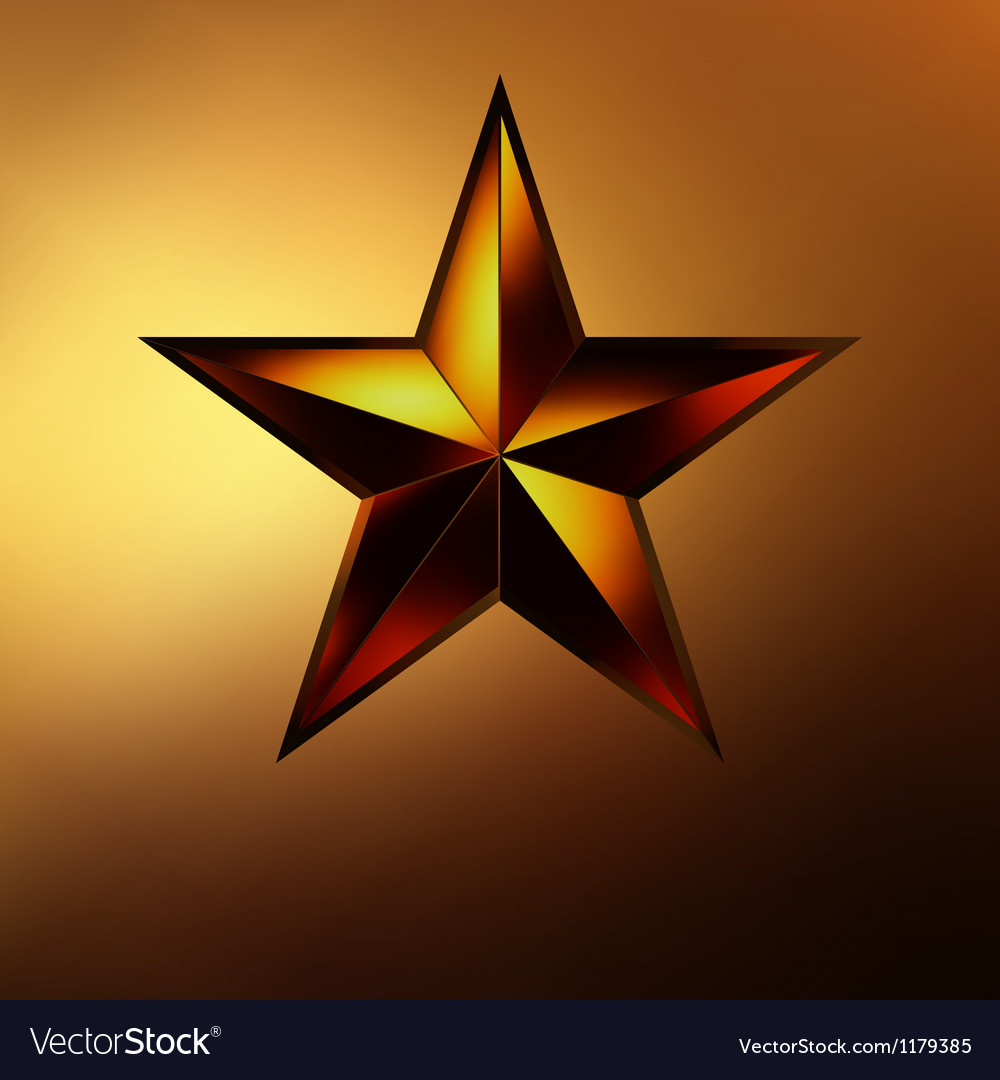 A red star on gold eps 8 vector | Price: 1 Credit (USD $1)