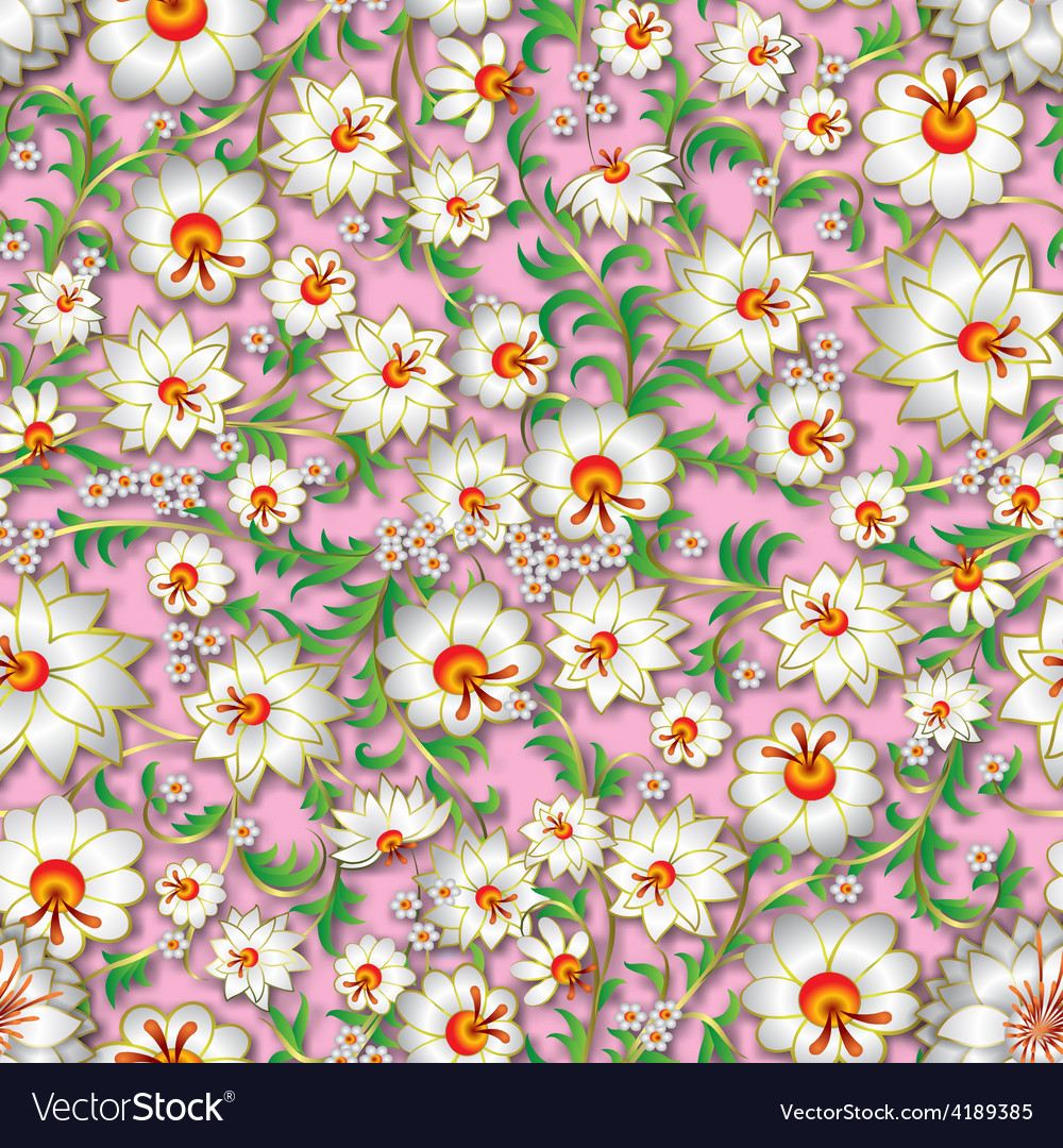 Abstract white spring seamless floral ornament and vector   Price: 1 Credit (USD $1)