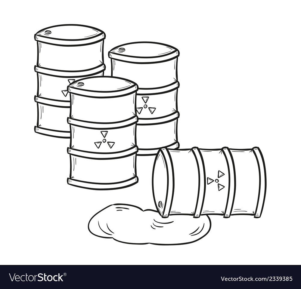 Barrels with dangerous fluid vector | Price: 1 Credit (USD $1)