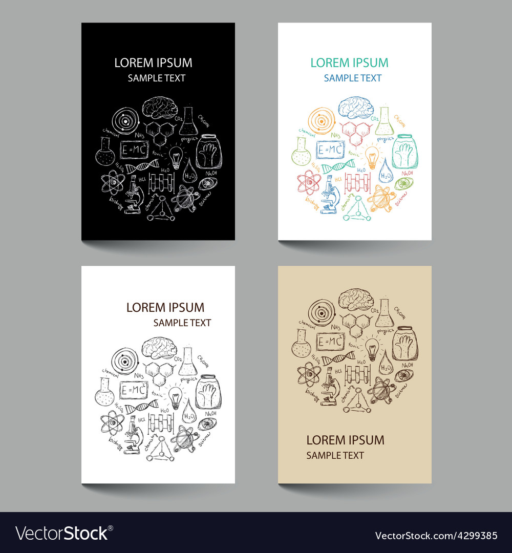 Document template with chemistry doodles vector | Price: 1 Credit (USD $1)