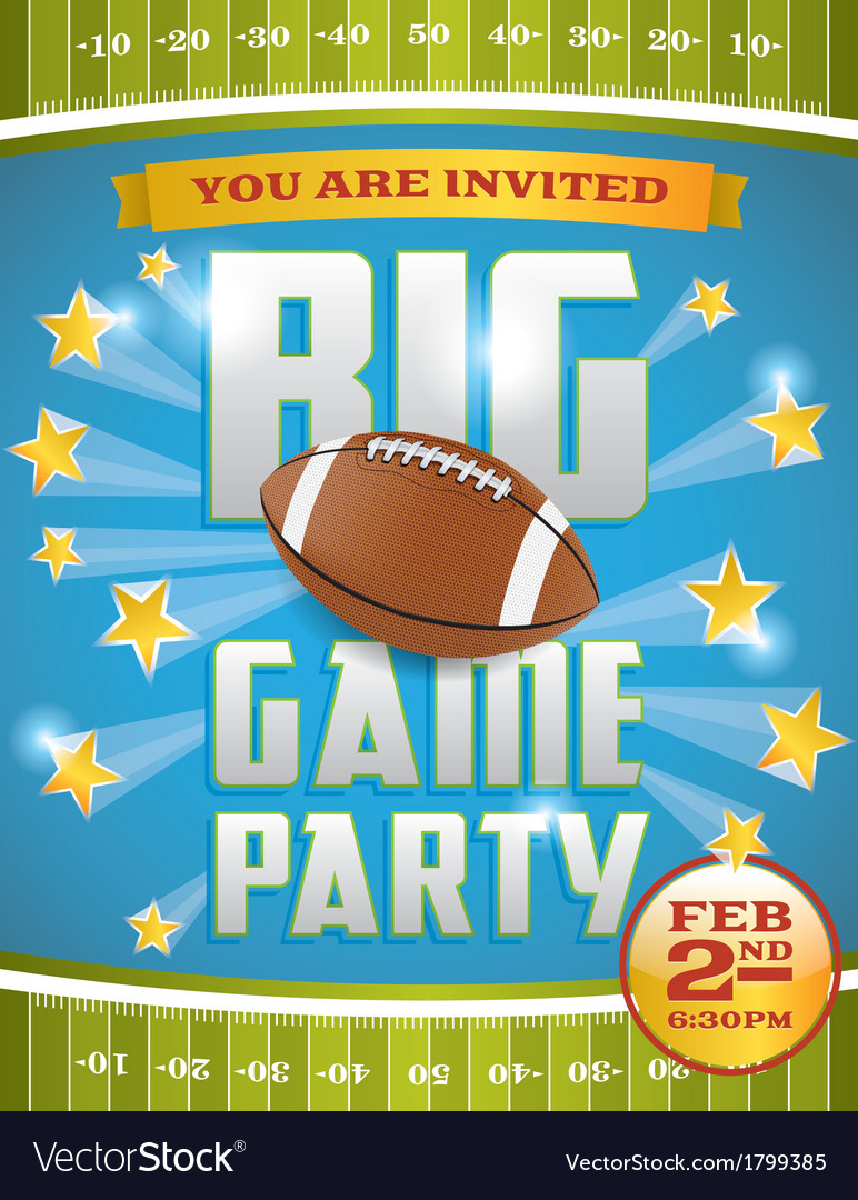 Football game invitation flyer vector | Price: 1 Credit (USD $1)