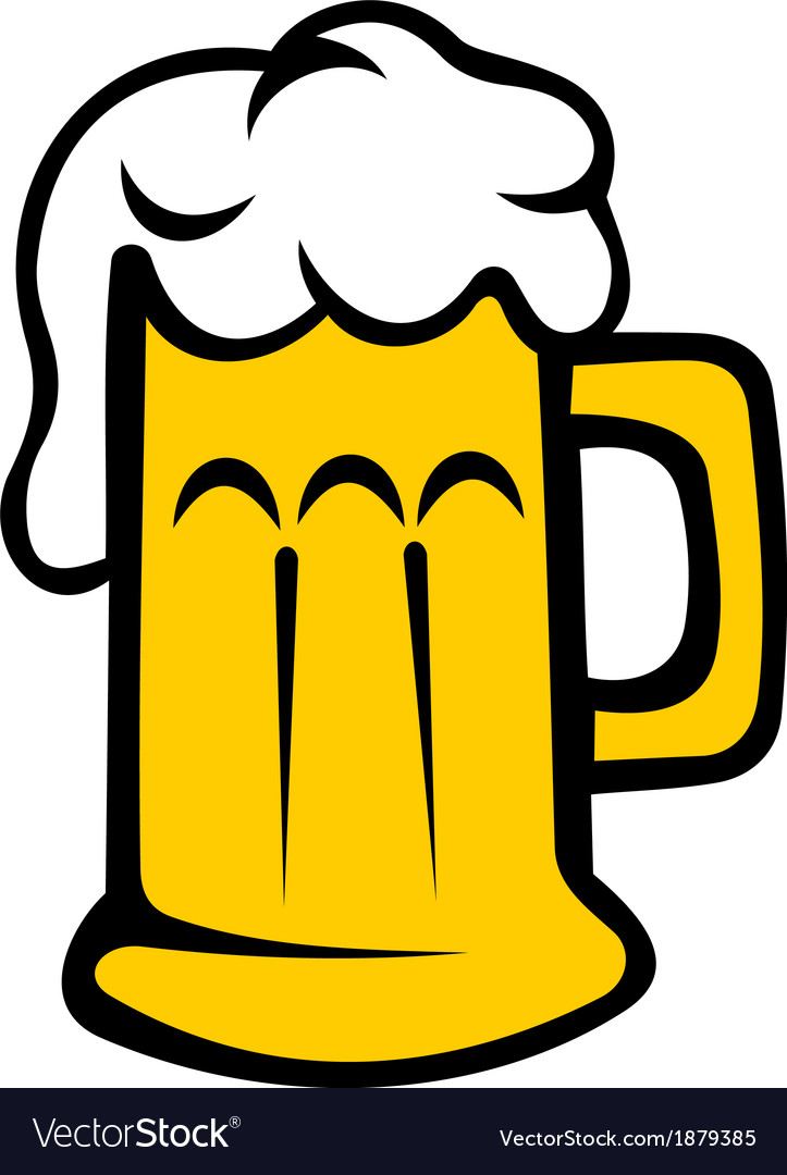 Frothy tankard of beer or lager vector | Price: 1 Credit (USD $1)