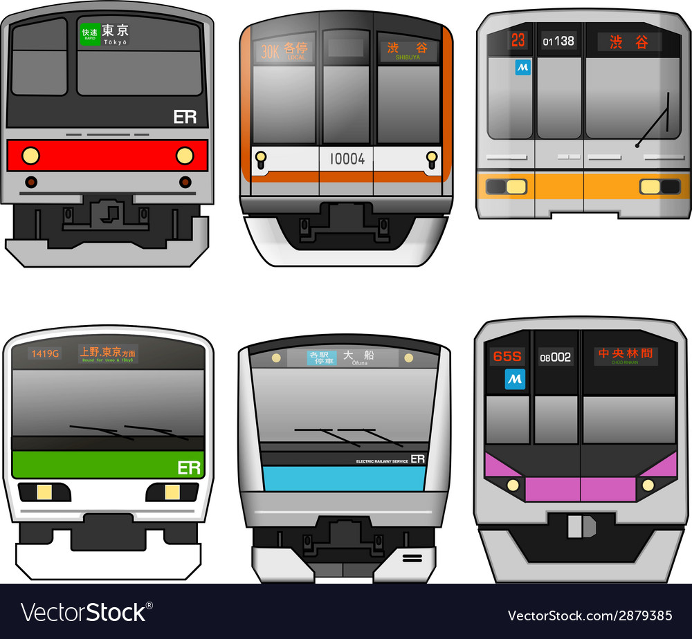 Japanese trains vector | Price: 1 Credit (USD $1)