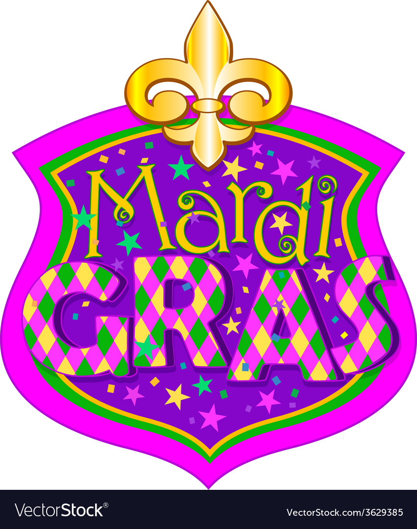 Mardi gras blazon vector | Price: 1 Credit (USD $1)