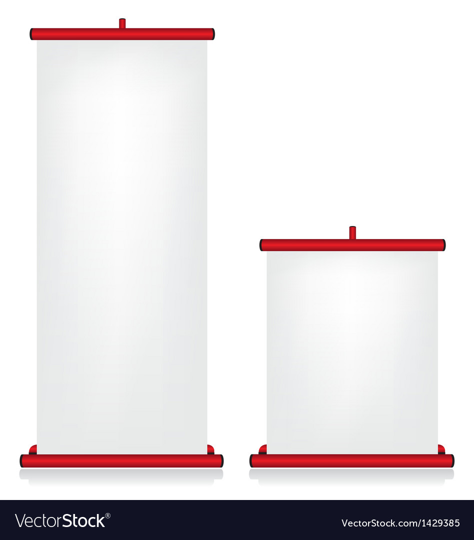 Roll up banner red vector | Price: 1 Credit (USD $1)