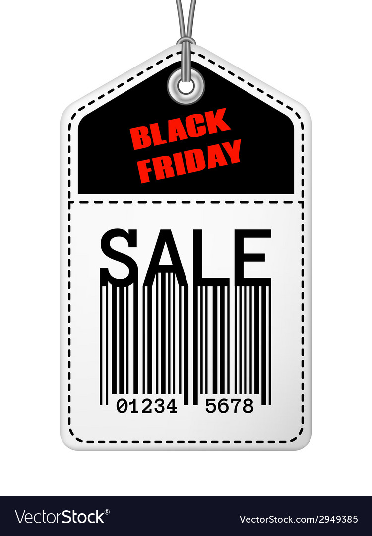 Vintage black friday sale tag vector | Price: 1 Credit (USD $1)