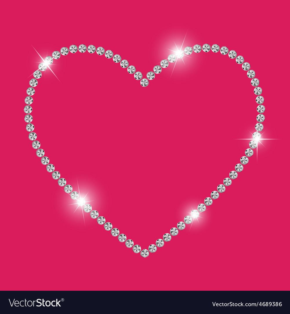 Abstract luxury diamond heart vector | Price: 1 Credit (USD $1)