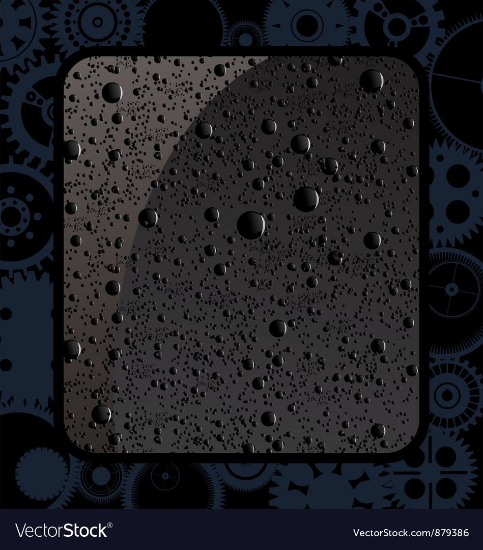 Black water drops vector | Price: 1 Credit (USD $1)