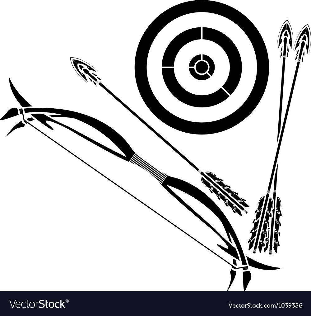 Bow and target vector | Price: 1 Credit (USD $1)