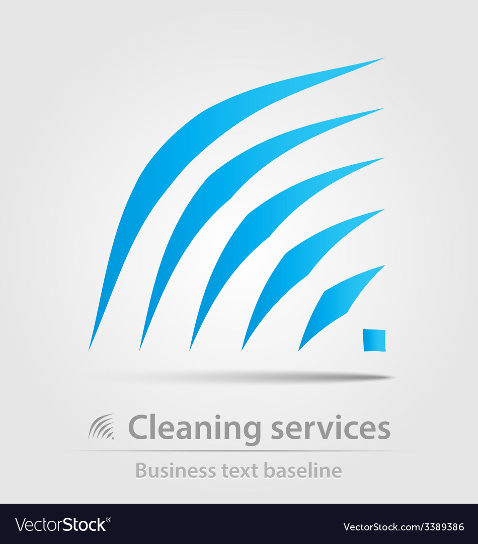 Cleaning service business icon vector | Price: 1 Credit (USD $1)
