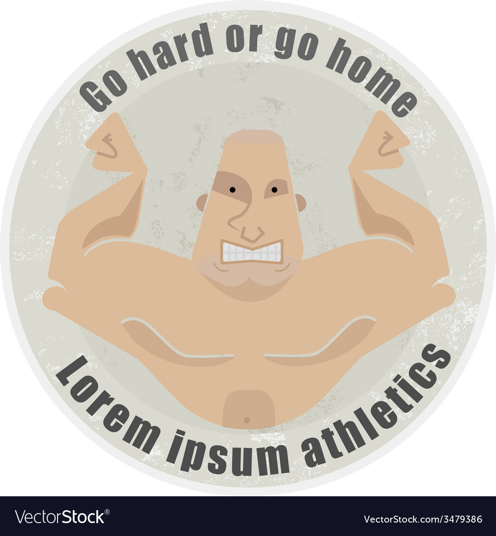 Emblem with bodybuilder vector | Price: 1 Credit (USD $1)