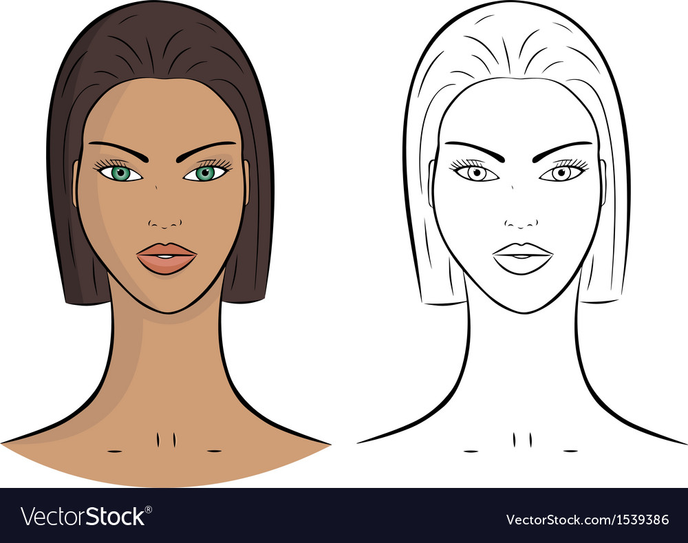 Female portrait vector | Price: 1 Credit (USD $1)