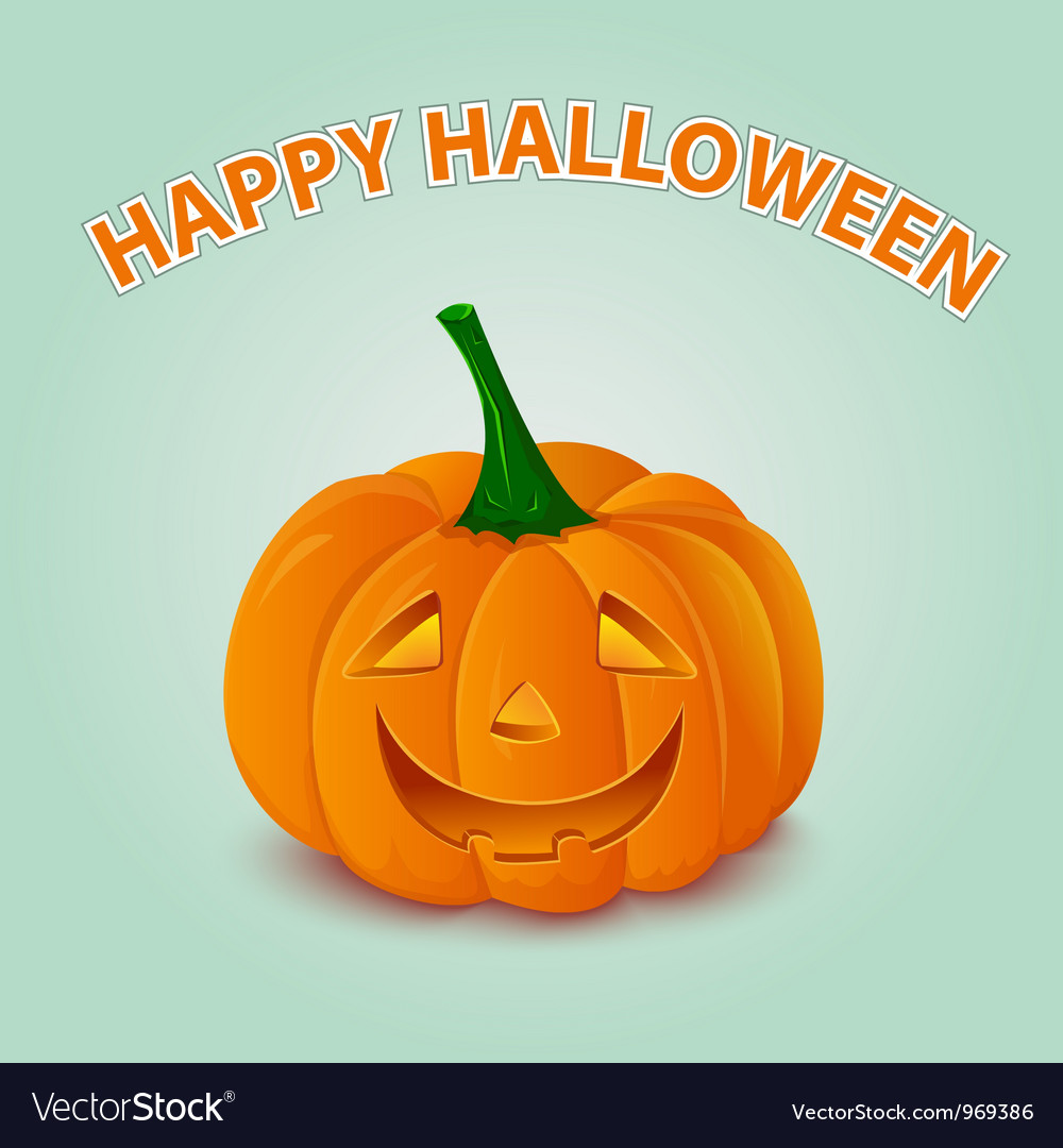 Halloween pumpkin card vector | Price: 1 Credit (USD $1)