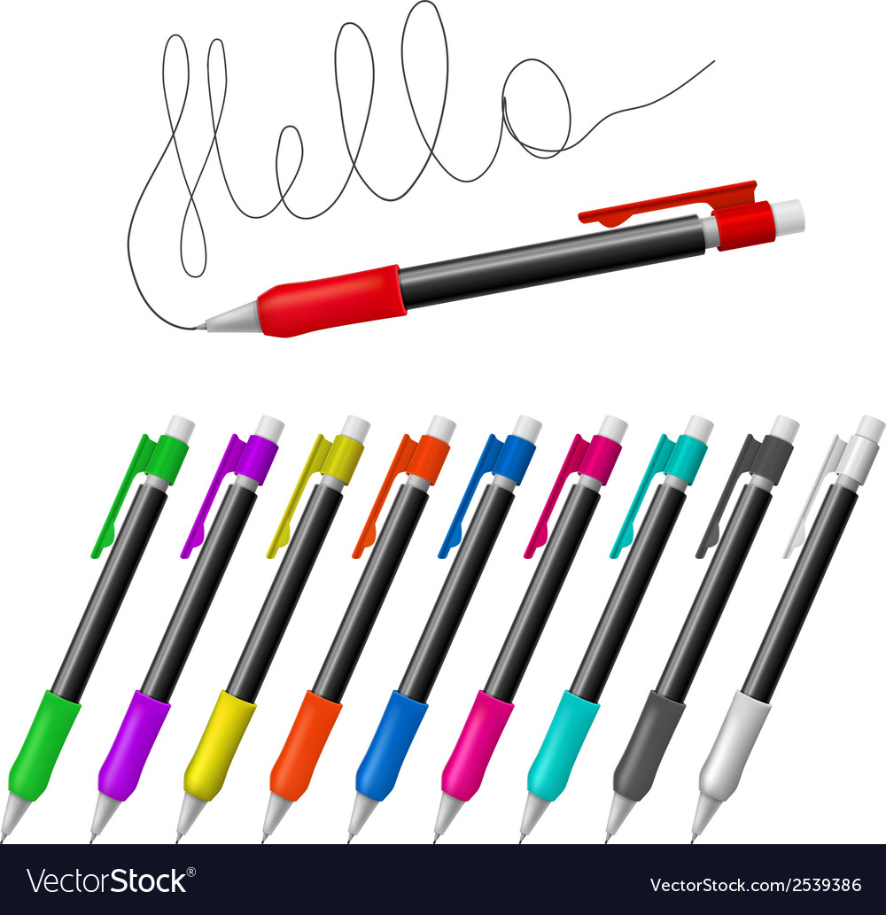 Mechanical pencils vector | Price: 1 Credit (USD $1)