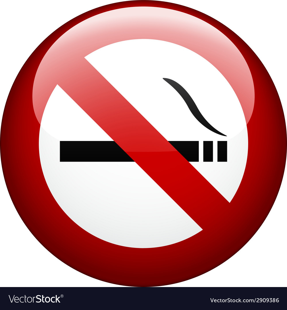 No smoking mark vector | Price: 1 Credit (USD $1)