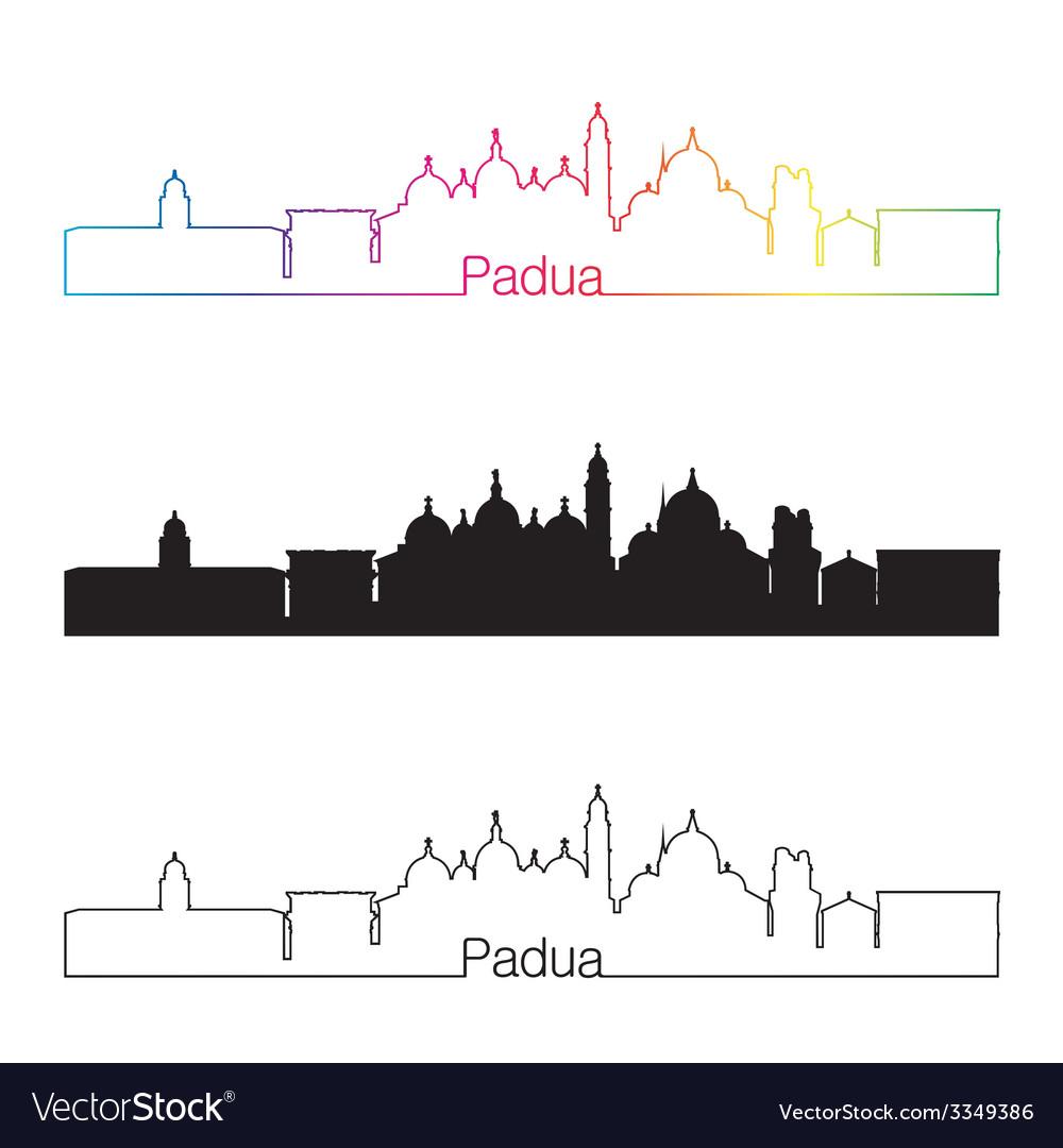 Padua skyline linear style with rainbow vector | Price: 1 Credit (USD $1)
