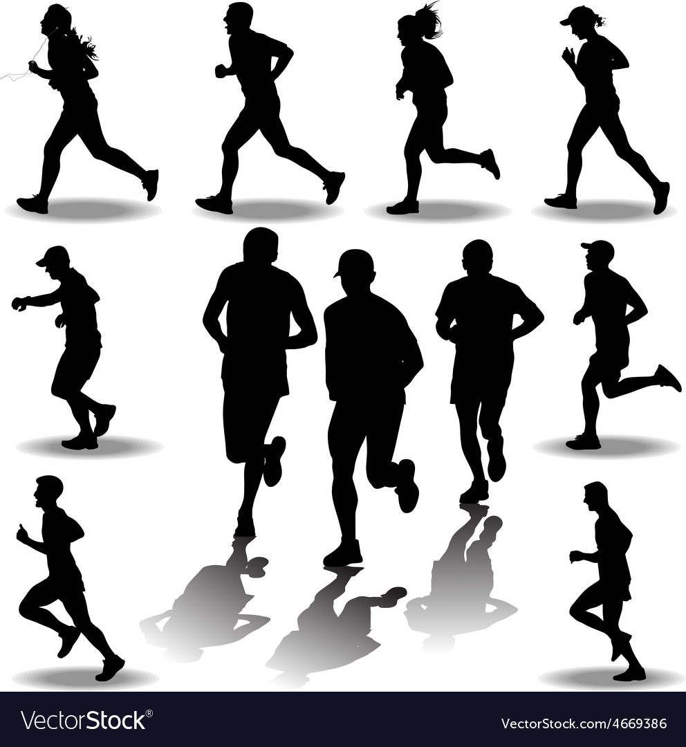 Runner silhouette vector | Price: 1 Credit (USD $1)